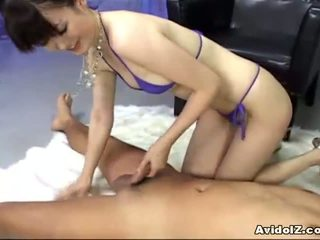 Ai himeno loves 公雞 挑逗 和 組 masturbation