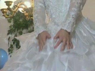 Blondine europees bruid gets licked en bips geneukt