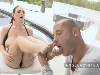 Big Tits Angela White Gets Fucked and Cummed On