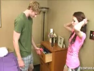 Horny Teen Caught Him Jerking Off To Other Girls