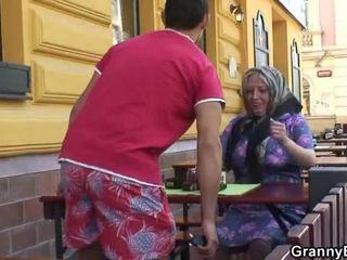 Stønning grandmother acquires hans teenaged joystick