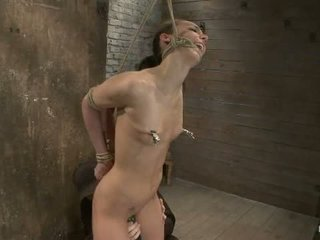 Sexy Tall Long Legged Tan Girl Next Door Br Brutal Bondage Neck Rope Breath Play Made To Come