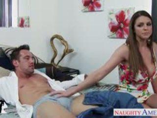 Hottie brooklyn chase gets velika prsi cummed pri poroka