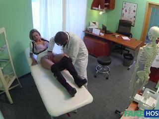 Horny doctor fucks his hot blonde nurse