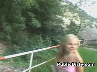 blowjobs, blondes, outdoors