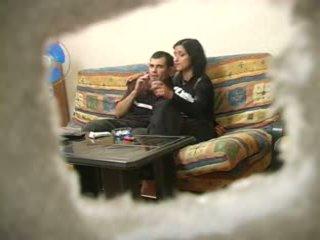 Amatör turkiska hustru med ryska människa medan hubby was bort