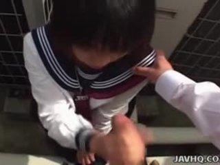 japanisch, blowjob, uniform