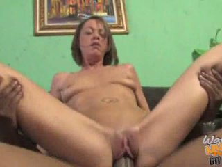 Hot mom gets banged in the ass in front of her son