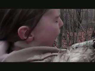 角質 outdoors - assfuck とともに 若い 女の子, ポルノの 71