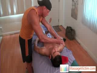 Massage client gets anus stuffed with dildo