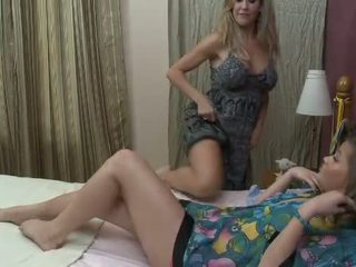 Horny milf kissing her new young girlfriend