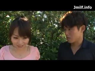 brunette, japonais, mari trompé