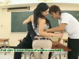 Sora aoi innocent סקסי יפני סטודנט הוא getting מזוין