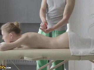 Pleasure from a nude massage session