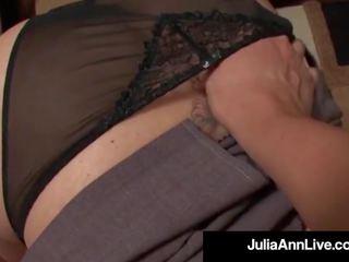 Award Winning MILF Julia Ann gets Cum in Her Eye on the
