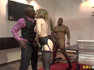 Nina hartley interracial gangbang, gratuit porno b0
