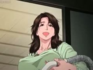 Grande boobed anime milf gets rubbed
