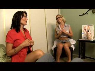 Voyeur: therapist instructs mam