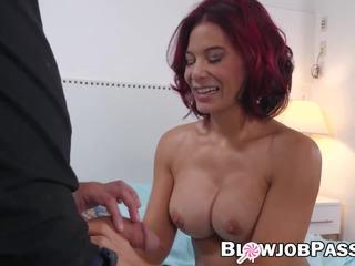 Redhead MILF Ryder Skye Blowing Stepson and Swallows Cum