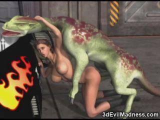 3d момиче impaled от извънземни dragon