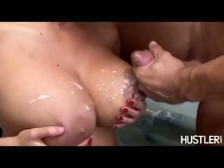 Adorable Sexy Carly Parker Acquires Creamed On Her Bouncy Hawt Boobies And Loves It