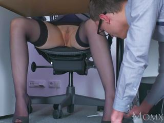 Mom Blonde Big Tits MILF Sucks Massive Geek Cock: Porn d1