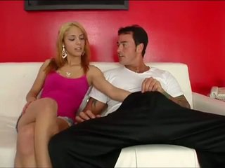 Dirty blonde drops for dick