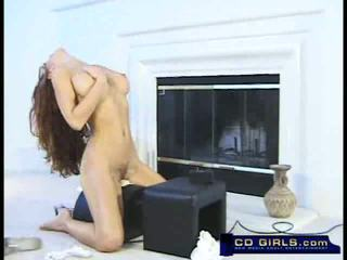 Gorgeous Isabella has a sybian orgasm