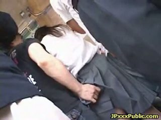 Sexy japanese teens fuck in public places 33