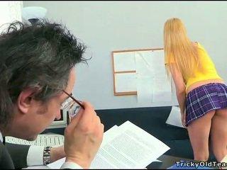 Kön lesson med kåta läraren
