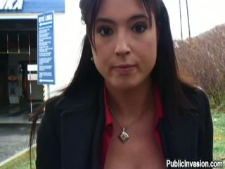 reality, big tits, public