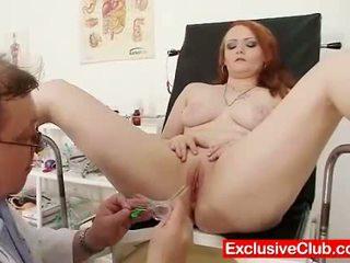 Redhead Samantha checked by kinky gyno...