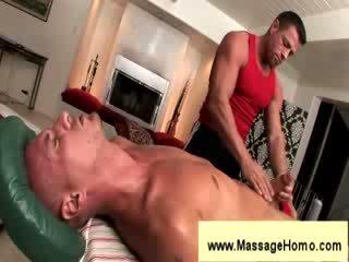Troy michaels gives blowjob til masseuse