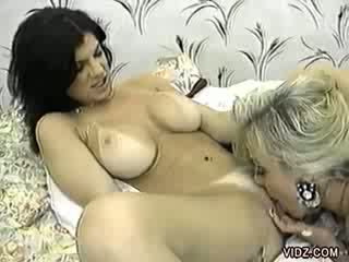 Blond to dark haired sluts hot make out