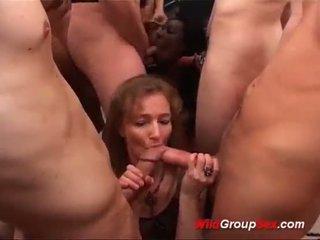 Extreme bukkake gangbang orgy