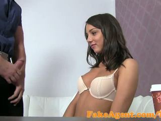 FakeAgent Cute innocent amateur tricked into sex in Casting