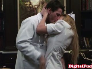 Glamcore nurse cant resist doctors hard cock