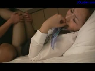 Office Lady In Pantyhose Giving bj Fucked Sperm To Pantyhose On The Bed In The Hotel