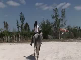चिक से thailand राइडिंग एक घोडा