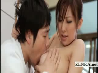 Grand titty japonais sultress harumi asano has melons suckled