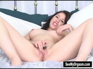 Lusty Latina Abby Masturbating