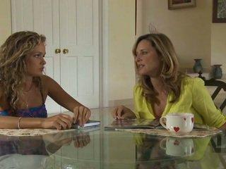 Old and young lesbians test their new içki geýim