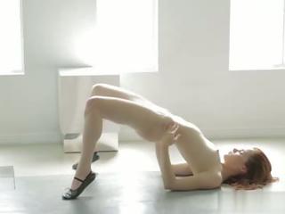 redhead, lingerie