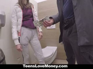 Teenslovemoney - russisch babe fucks stranger voor geld