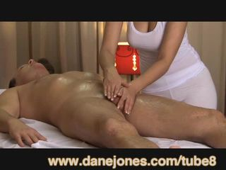 DaneJones Beautiful busty masseuse takes care of your orgasm