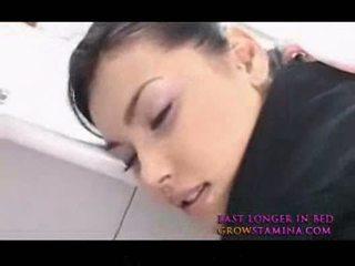 Maria ozawa heet aziatisch stewardes neuken van achter 2