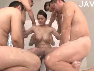 japonez, sex în grup, cumshot