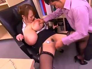 Bad office lady with big tits Hitomi Tanaka