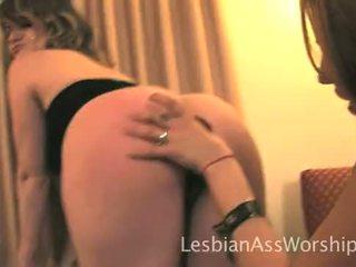 lesbians, ass licking, big butt