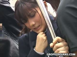 女子生徒 模索 バイ stranger で a バス